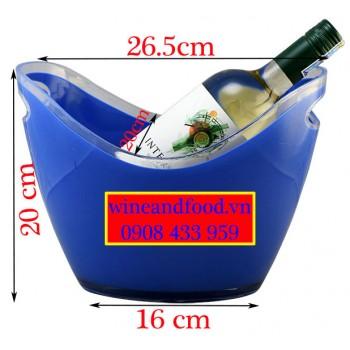Xô đá ngâm ướp rượu Oval nhựa đục 03