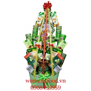 Giỏ quà cây thông Noel Xanh 01