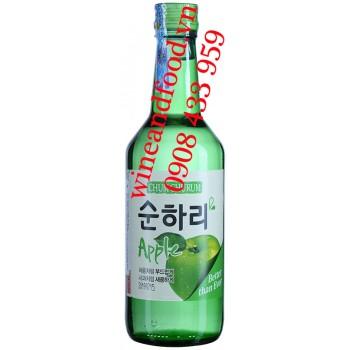 Rượu Soju Chum Churum táo 360ml