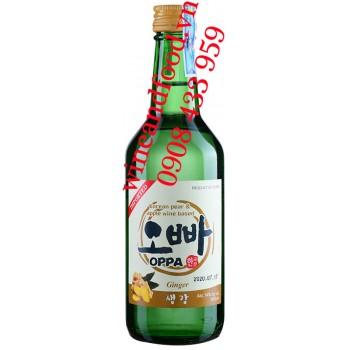 Rượu Soju Gừng Oppa Ginger 360ml