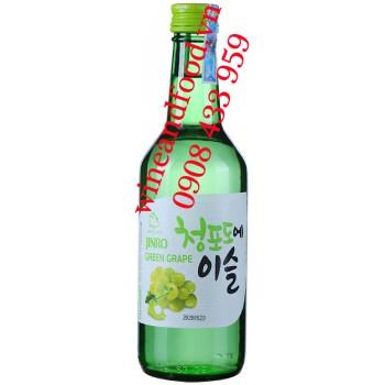 Rượu Soju Jinro nho xanh Hàn Quốc 360ml