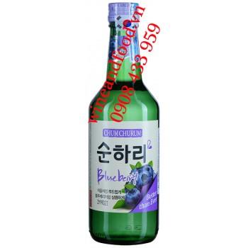Rượu Soju Việt Quốc Blueberry Chum Churum 360ml