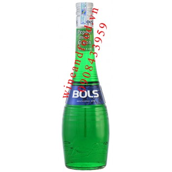 Rượu Bols Pepper Mint Green 700ml