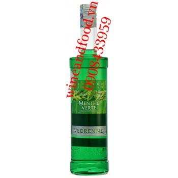 Rượu mùi bạc hà xanh Vedrenne 700ml