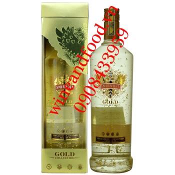 Rượu Smirnoff Gold vảy vàng hương quế 1l