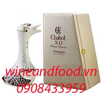Rượu Armagnac Chabot XO con ngỗng trắng hộp da