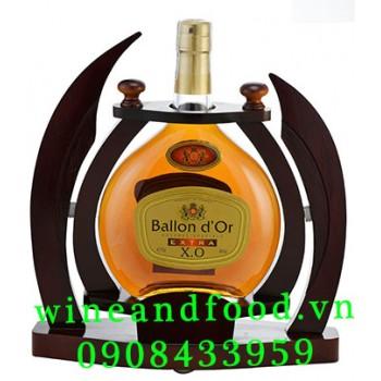 Rượu Brandy Extra XO Ballon d'Or kệ gỗ 70cl
