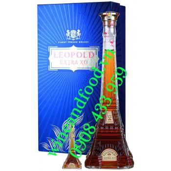 Rượu Brandy Leopold Extra hộp quà 500ml 1 chai mini