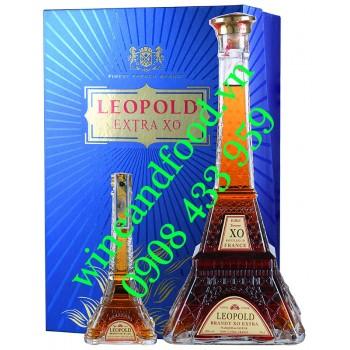Rượu Brandy Leopold Extra XO hộp quà 700ml 2 chai mini