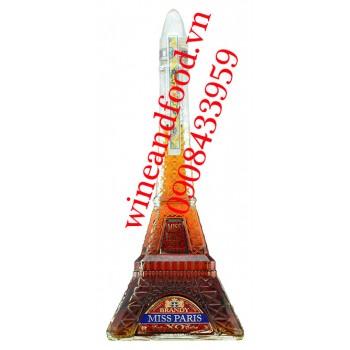 Rượu Brandy Miss Paris tháp Eiffel 70cl