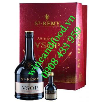 Rượu Brandy St Rémy VSOP hộp quà