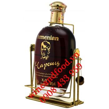 Rượu Brandy XO Armenia Charents 10 năm 1750ml có kệ