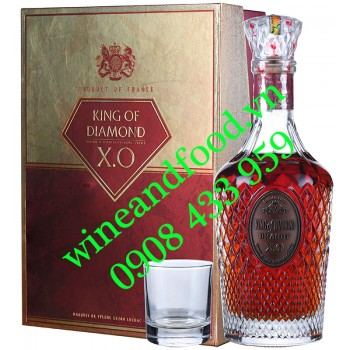 Rượu Brandy XO King Of Diamond hộp quà