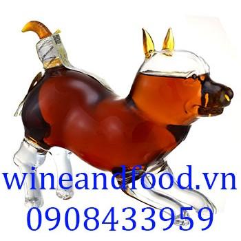 Rượu con chó trung Brandy 500ml