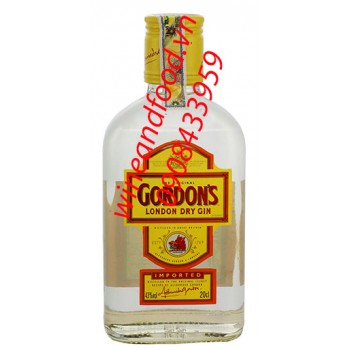 Rượu Gordon's London Dry Gin 200ml