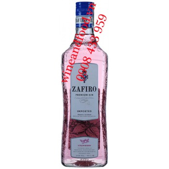 Rượu Gin Zafiro Premium Strawberry 70cl