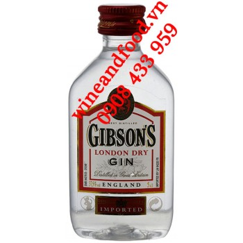 Rượu Gin mini Gibsons London Dry 5cl