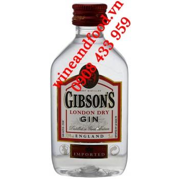 Rượu Gin mini Gibson's London Dry 5cl