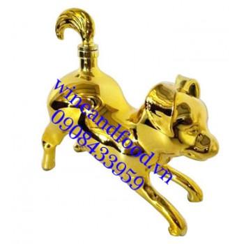 Rượu con chó mạ vàng Brandy 500ml