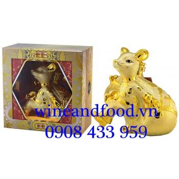 Rượu Con Chuột bằng Sứ mạ vàng 14 1500ml