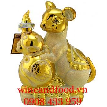 Rượu Con Chuột bằng Sứ mạ vàng 17 1500ml
