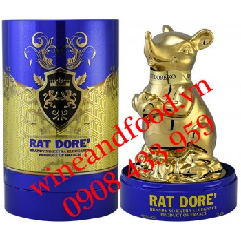 Rượu con Chuột Rat Dore' Brandy XO Extra Ellegance Pháp