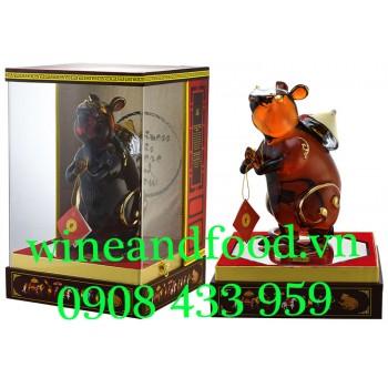 Rượu Con Chuột Royal Rich XO Gold 23k Brandy 1 Lít 16