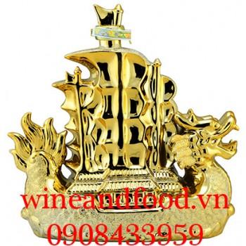 Rượu Thuyền Rồng mạ vàng Whiskey 16 năm