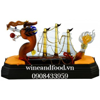 Rượu Thuyền rồng Brandy Nga 1l