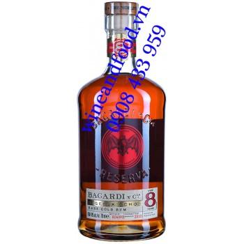 Rượu Rum Bacardi 8 năm Reserva Ocho Rare Gold 700ml