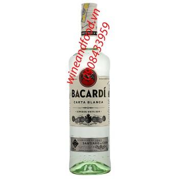 Rượu Rum Bacardi Carta Blanca Trắng 750ml