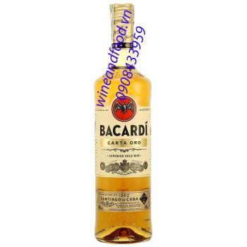 Rượu rum Bacardi Carta Oro Gold Vàng 750ml