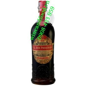 Rượu Rum El Ron Prohibido Habanero 70cl