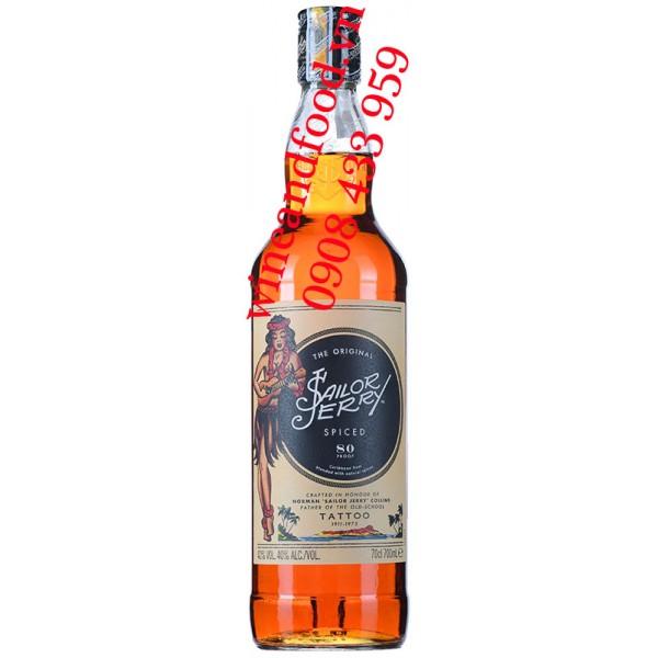 Rượu Rum Tailor Jerry Spice Tatto 700ml