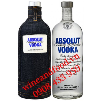 Rượu Vodka Absolut Demin 1 lít