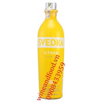 Rượu Vodka Svedka Citron 750ml