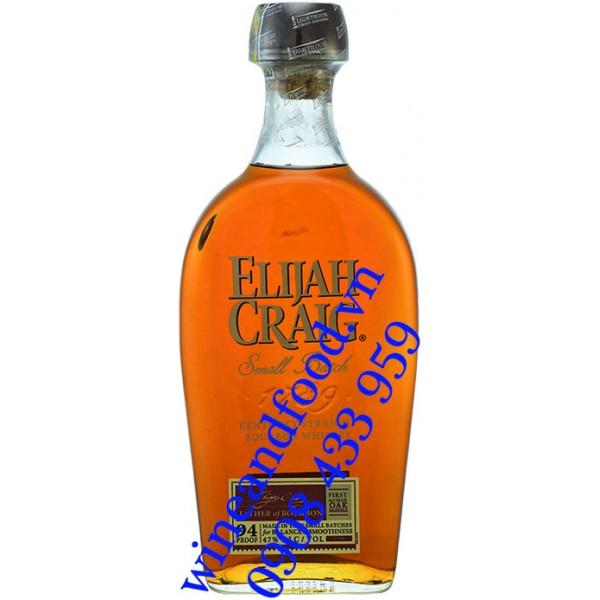 Rượu Elijah Craig Small Batch 94 Proof Kentucky Straight Bourbob Whiskey 750ml