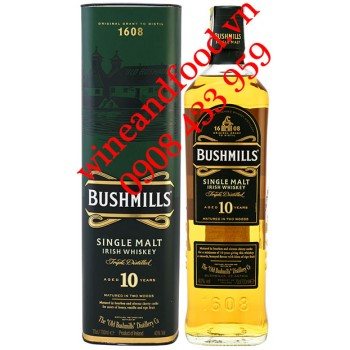 Rượu Irish Whiskey Bushmills Single Malt 10 năm