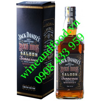 Rượu Jack Daniels 125th Anniversary Red Dog Saloon Limited Edition 750ml