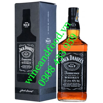 Rượu Jack Daniel's Old No 7 Tennessee Whiskey 1 Lít