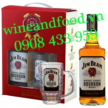 Rượu Jim Beam Kentucky Straight Bourbon Whiskey hộp quà