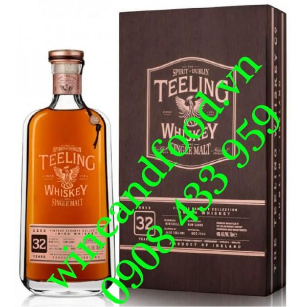 Rượu Teeling 32 năm Single Malt Irish Whiskey 70cl