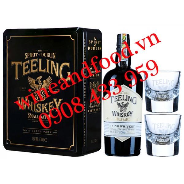 Rượu Teeling Small Batch Irish Whiskey hộp quà đen 70cl
