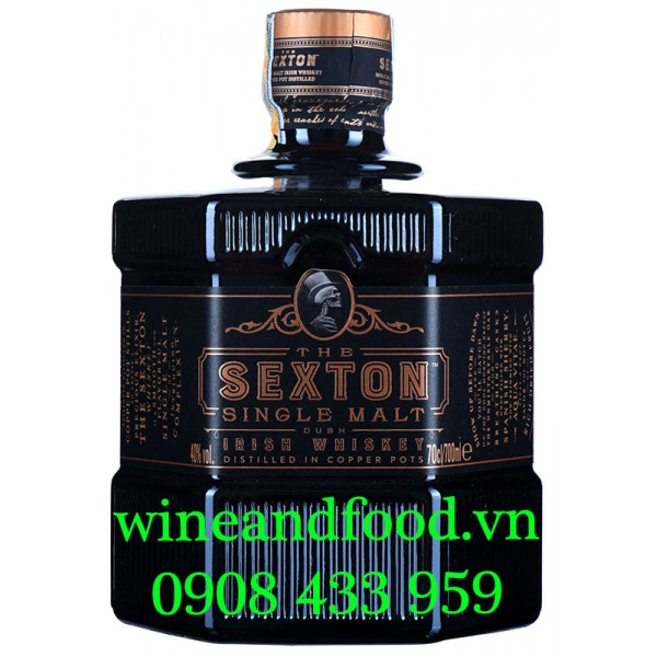 Rượu The Sexton Single Malt Irish Whiskey 70cl