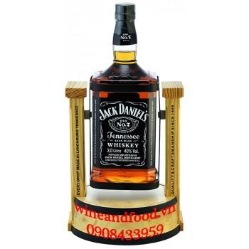 Rượu Whiskey Jack Daniel's Tennessee No.7 kệ gỗ 3L