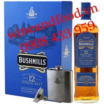 Rượu Whiskey Single Malt Bushmills 12 năm hộp quà