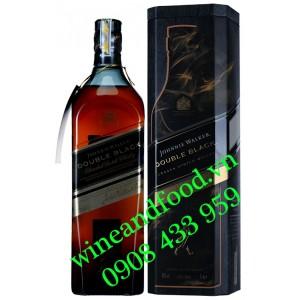 Rượu Whisky Double Black Johnnie Walker hộp thiếc 1 Lít