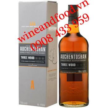 Rượu Whisky Auchentoshan Three Wood Single Malt 700ml