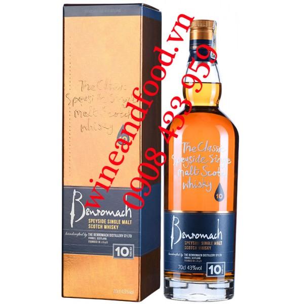 Rượu Whisky Benromach Speyside Single Malt 10 năm 70cl