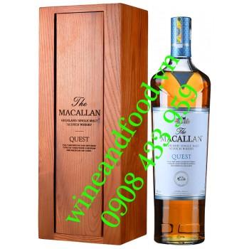 Rượu Whisky The Macallan Quest Single Malt hộp gỗ 1L